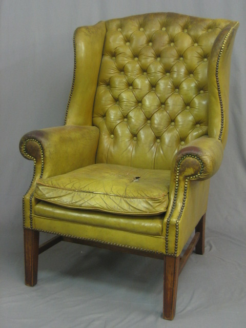 Wing Chairs - High Backed and High Seat Fabric or Leather Chair