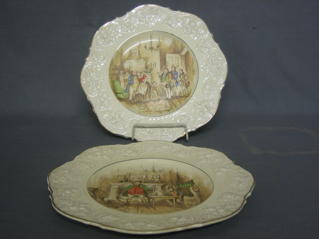 Lot No 794 6 Crown Ducal Pottery Plates Decorated Scenes Form The Pickwick Papers Some Damaged
