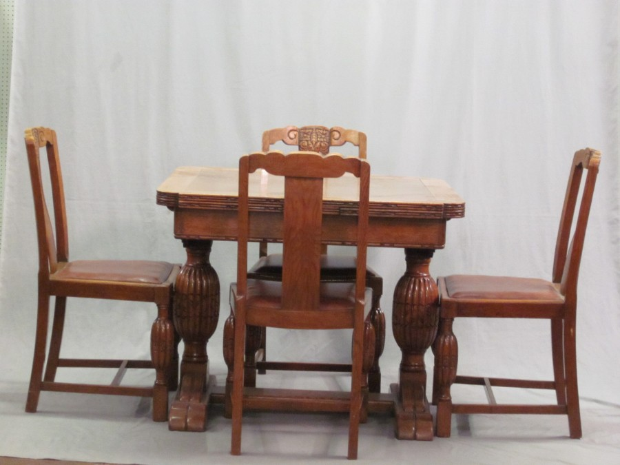 Lot No 92 A 1930 39 S Carved Honey Oak Dining Room Suite Comprising Oak Refe