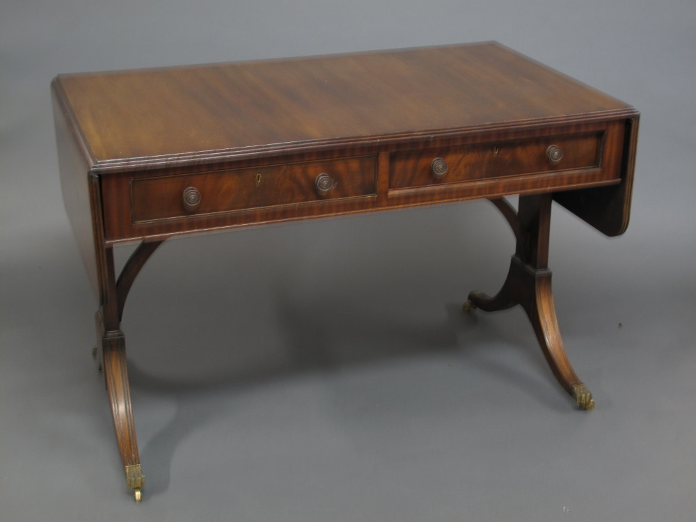 Lot no 70 a georgian style mahogany sofa table fitted 2 for Sofa table 70