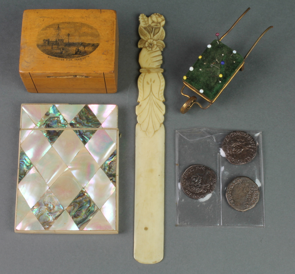 Lot no a victorian mother of pearl card case quot