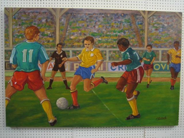 Kết quả hình ảnh cho football game painting