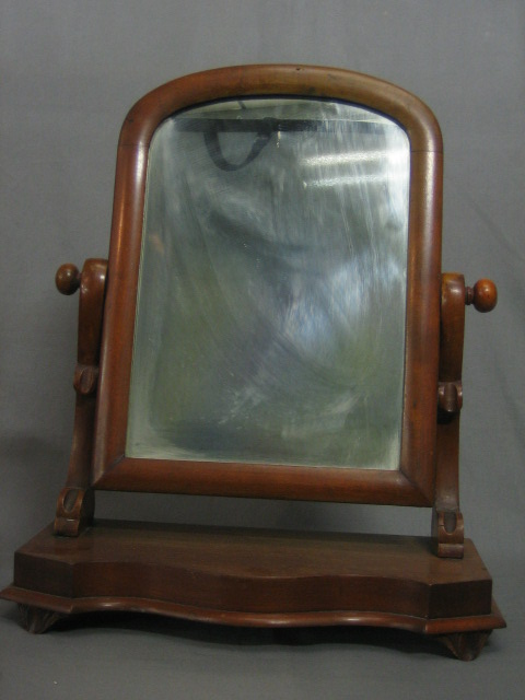 A Victorian Arched Plate Dressing Table Mirror 29th August 2007