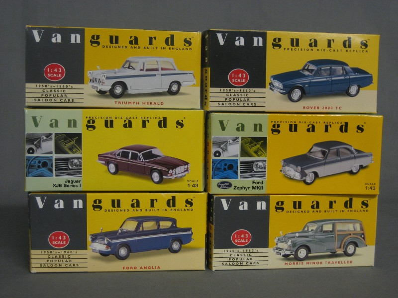 6 various Vanguards model cars - Rover 2000, Morris | 17th ...