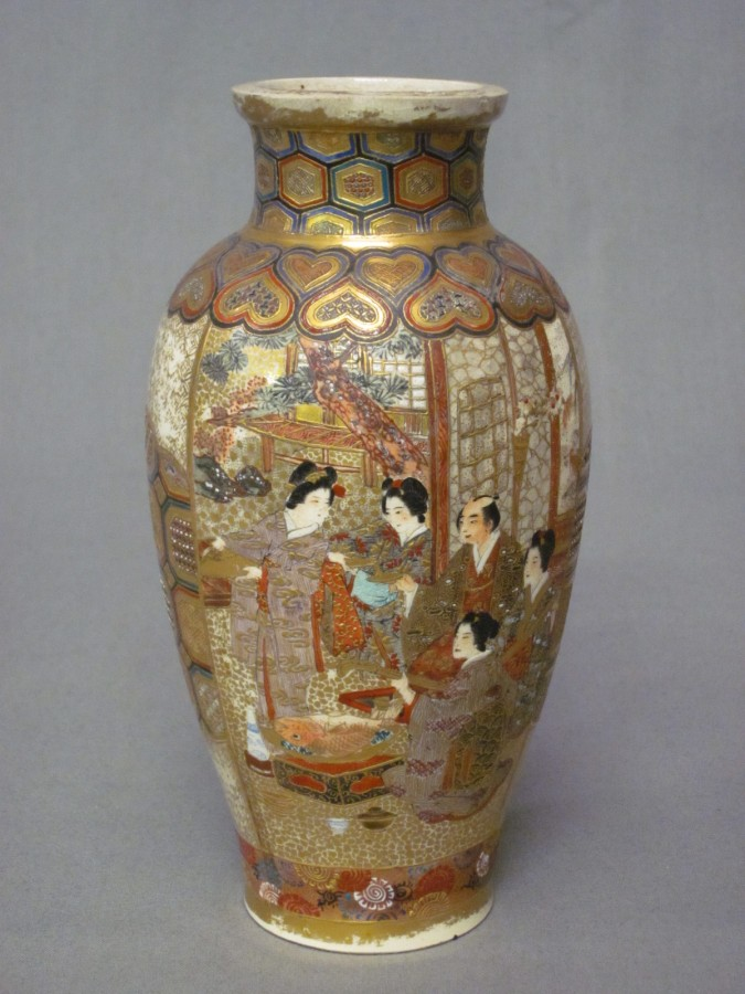 A Japanese Satsuma Porcelain Vase Decorated Court 4th August 2010