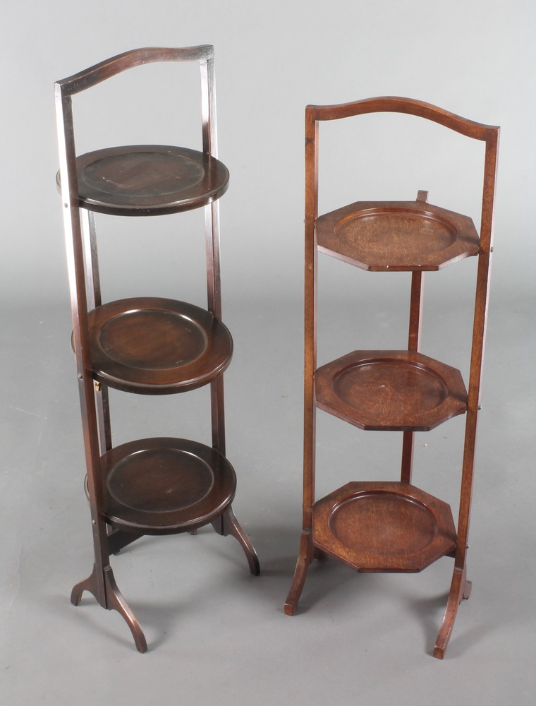 Art Deco Folding Cake Stand : 1020 An Art Deco mahogany 3 tier folding cake stand 30