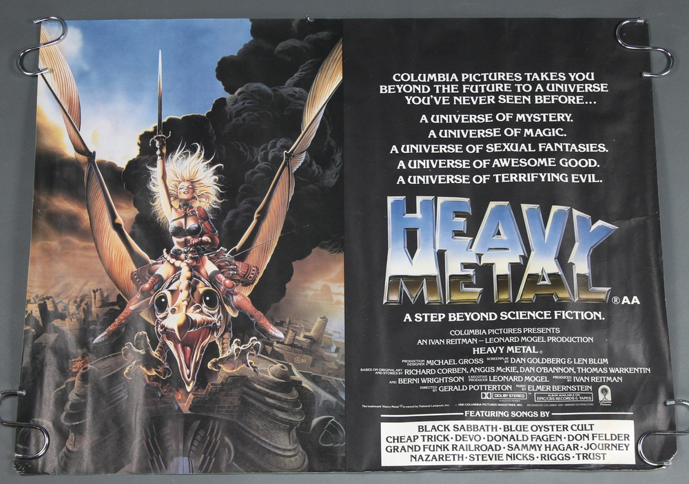3 Heavy Metal 1981 British Movie Posters 2 Quad 17th May 2017 Denhams